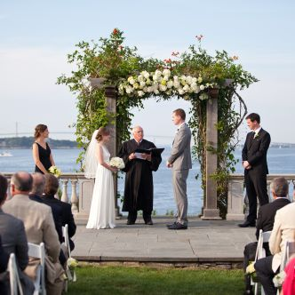 wedding taking place at Castle Hill Inn Rhode island