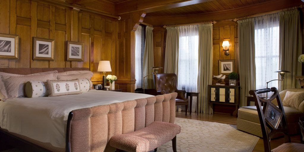 Newport Master bedroom at Castle Hill Inn in Rhode Island